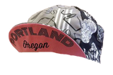 Portland 'Skulls & Coffee' Cycling Cap - Gray | Cento Cycling