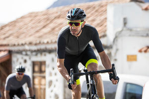 Details about  /Santini Men/'s Sleek 99 Cycling Short Sleeve Jersey in  Black//Red