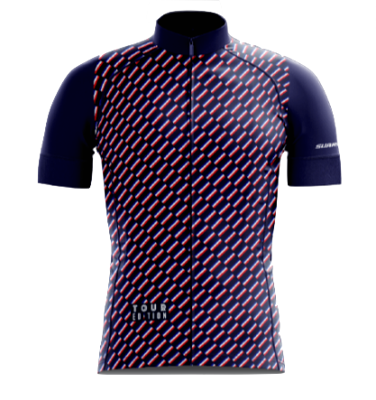 Le Drapeau Tour de France 2019 Cycling Jersey by Suarez