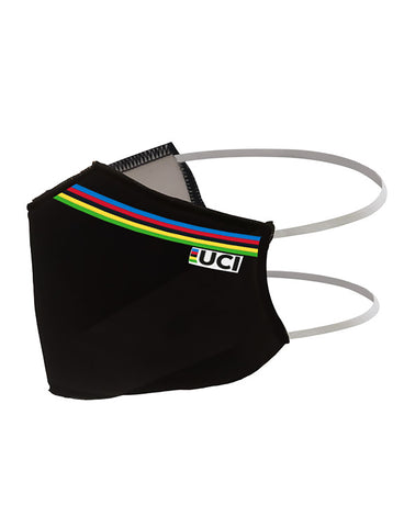 Official 2020 UCI Road Cycling World Championships Face Mask in Black | Cento Cycling