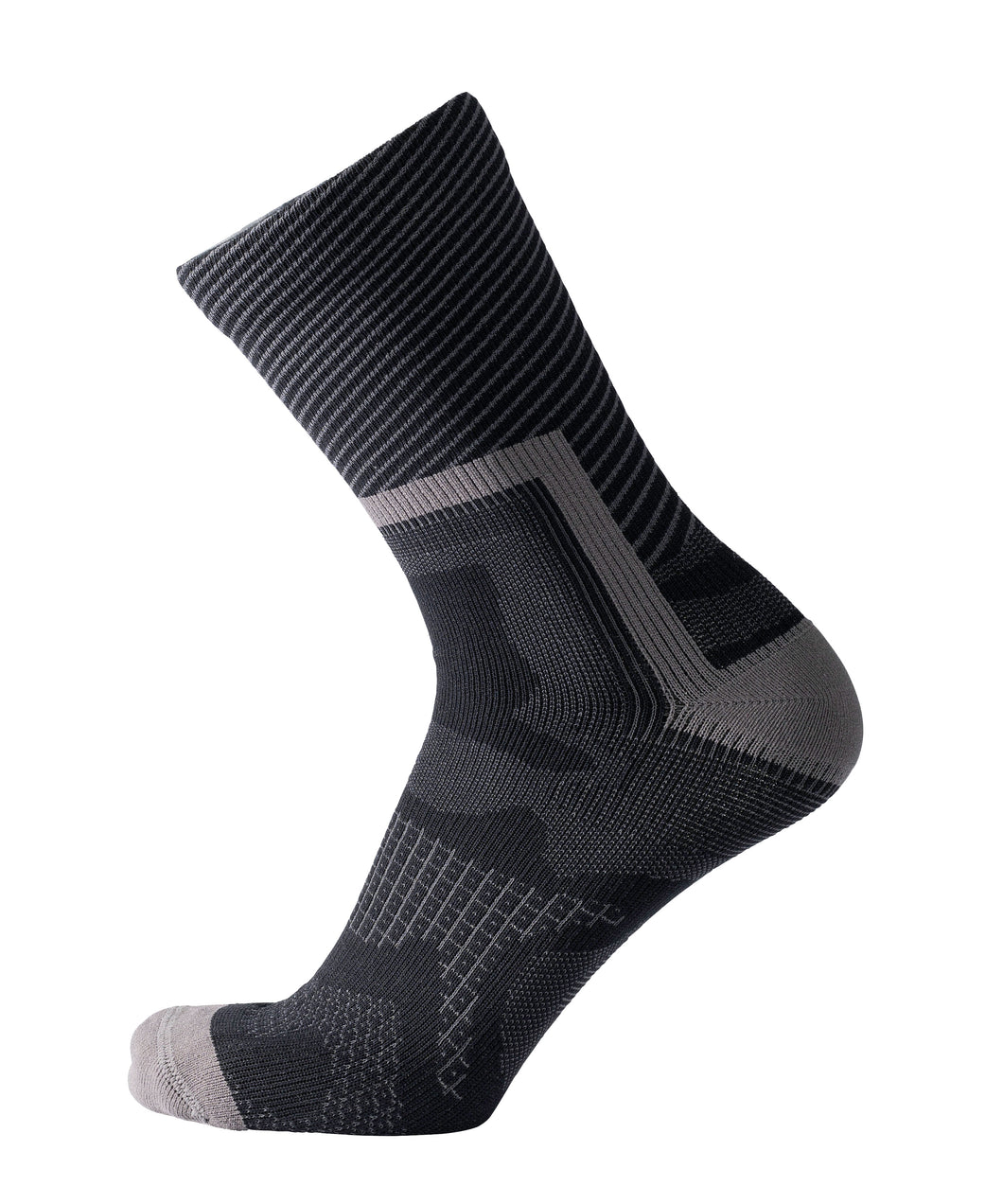 2020/21 Showers Pass Crosspoint Ultra-Light Waterproof Crew Socks Black/Grey | Cento Cycling
