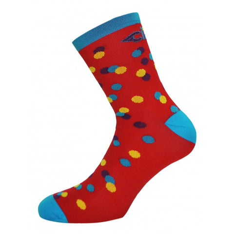 Caleido Dots Socks Red
