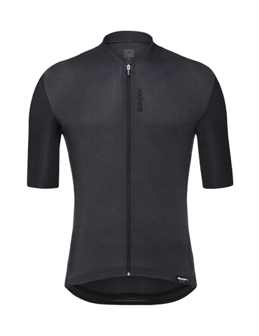 Santini Classe Short Sleeve Cycling Jersey in Black