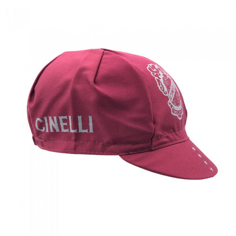 Cinelli Crest Cycling Cap in Burgundy | Cento Cycling