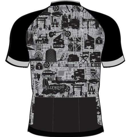 Men/'s San Vicente CYCLING SHORT SLEEVE JERSEY in Grey Made in Italy by GSG