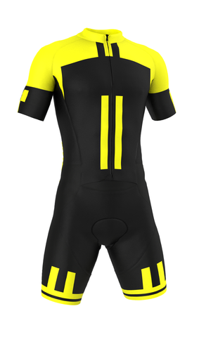 Professional 'Giallo Nero' Road Suit (skinsuit) Made in Italy by GSG