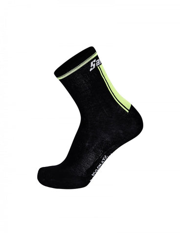 PRL 2.0 Winter Cycling Socks in Black / Yellow by Santini