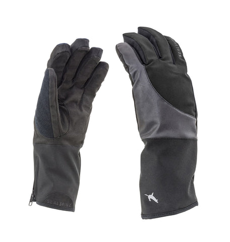 Sealskinz Waterproof Thermal Reflective Cycling Gloves - winter, black