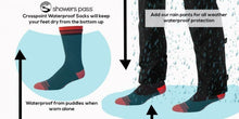 2019/20 Crosspoint Waterproof Crew Socks Neon Yellow Showers Pass | Cento Cycling