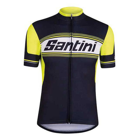 TAU Lightweight Cycling Jersey in Yellow. Made in Italy by Santini.