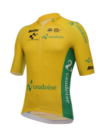 2018 Tour De Suisse Yellow Leaders Cycling Jersey Made in Italy by Santini