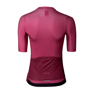 2021 Suarez Velvet Women's Short Sleeve Cycling Jersey in Red