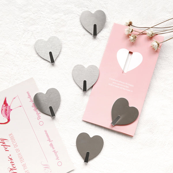 Heart Sticky Wall Hooks