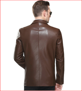 2016 New style Fashion men motorcycle genuine Leather Plus 4xl jacket coat men Slim-fitting Genuine Leather suit jacket coat 265