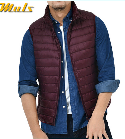 8Colors Winter Autumn 90% White Duck Down Vest Men Keep Warm Male parka Sleeveless Coat Man Muls Brand Cothing Feather Outwear