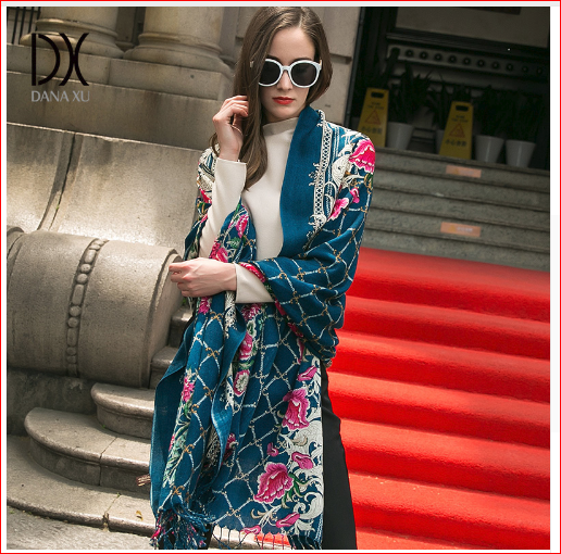 DANA XU Luxury Brand Scarf Women Shawl Warm Soft Wrap Pashmina Scarves