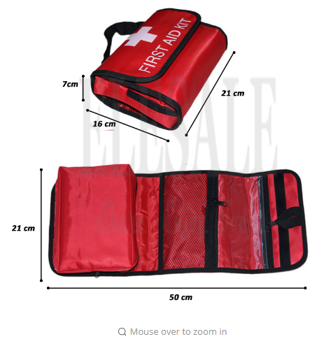 Folding Waterproof Portable Outdoor Car First Aid Kit Collapsible High Capacity Bag For Emergency Treatment In Travel Or Camping