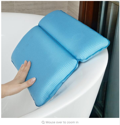 New product Hi-Q Bathroom SPA soft Pillows bathtub headrest with Suction Cup waterproof Bath Pillows Bathroom Products