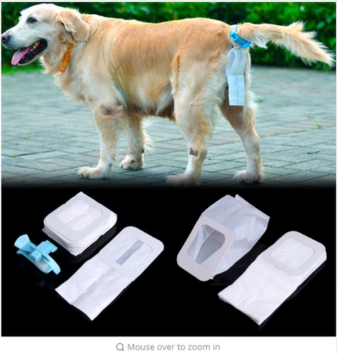 Pet Dog Waste Scooper Excretion Clean Tool Pickup Bag Poop Clip Bags Garbage Outdoors Pet Supplies S/L High Quality C42