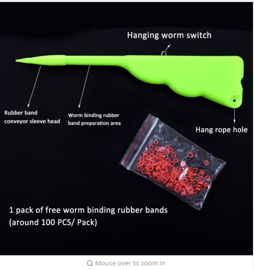 Professional Earthworm Bloodworm Clip Portable Fishing Baits Bloodworm Cilp Fishing Lures Clip Fishing Tackle Accessory