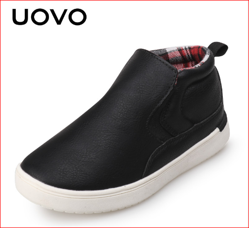 2017 UOVO Brand Newest Mid-cut Autumn Casual Shoes for Boys Typical Style Shoes for Kids Eur.27#-35#