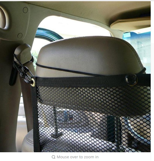 Vehicle Dog Car Seat Net Mesh Barrier Pet Supply Accessories Effective