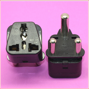 YuXi Hot 15A 250v BIG 3 pin india converter south Africa travel power adapter plug with safety earth socket
