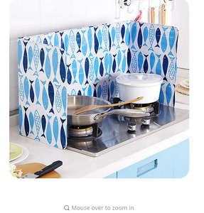 cooking plate stove kitchen grease Oil splash baffle Anti Splatter Shield Guard anti-oil pannel blinders