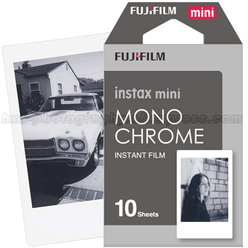 New Fujifilm Fuji Instax Mini 8 Film Monochrome 10pcs For Mini 8 7s 7 50s 50i 90 25 dw Share SP-1 Polaroid Instant Photo Camera