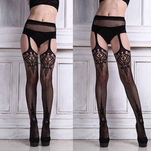 JECKSION Sexy Womens Lingerie Net Lace Top Garter Belt Thigh Stockings Pantyhose 5 #LSIN