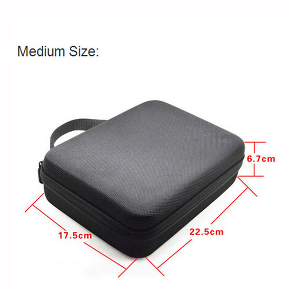 Portable Carry Case Small Medium Large Size Accessory Anti-shock Storage Bag for Gopro Hero 3/4 Sj 4000 XiaomiYi Action Camera