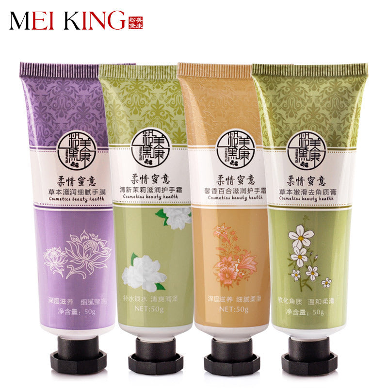 MEIKING Hand Creams Hand Lotions Hand Care Anti Chapping Anti Aging Whitening Moisturizing Nourishing Absorbing Hand Cream 4PCS