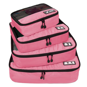 BAGSMART Travel 4 Set Packing Cubes. Carry-on Luggage Packing Organizers