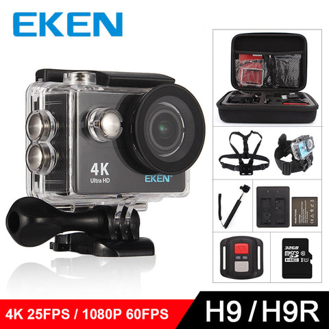 "EKEN H9 Action camera H9R Ultra HD 4K / 25fps WiFi 2.0"" 170D underwater waterproof Helmet Cam camera Sport cam"