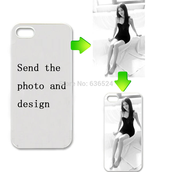 Custom LOGO Design Photo Case for iPhone 5S 4S 6 6Plus 7 7plus 8 8 plus X Cover Customized Printed Phone Cases DIY Gifts