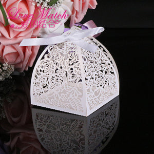 50Pcs Laser Cutting Lace Flowers Wedding Candy Box Wedding Gifts For Guests Wedding Favors And Gifts Christmas Party Decorations