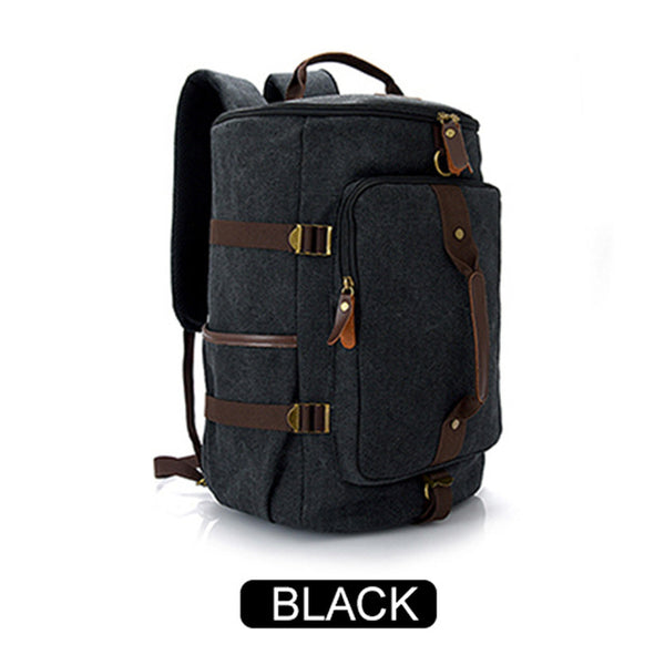 Multifunction Travel Bags Large Capacity Men Vintage Canvas Tote Portable Luggage Daily Handbag Shoulder Backpack Bolsa valise