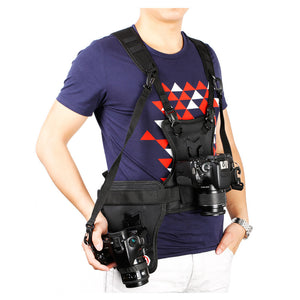 Multi Camera Carrier Harness Holster System Strap Holder for Digital SLR Camera MQ-MSP01