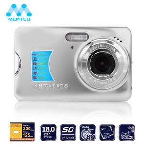 "MEMTEQ 18.0MP Camera 2.7"" TFT LCD Monitor 8X Digital Zoom Take Photo HD Video Face Detection Digital Camera Anti-shake EIS"