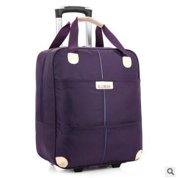 New 2017 travel trolley bag with wheels women men Unisex luggage bag on wheel suitcase Travel Duffle Oxford Travel bag on wheels
