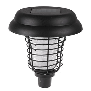 Solar Power UV Garden Lawn LED Light Anti Mosquito Lamp Pest Bug Zapper Insect Killer Lantern For Outdoor Garden