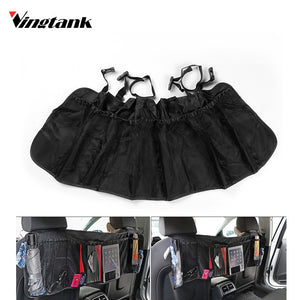Universal Auto Car Rear Seat Organiser Seat Back Storage Bag Mesh Hanging Bag Car Rear Trunk Organizer Cargo Net Luggage
