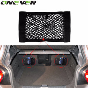 Onever 1pcs Car Back Rear Trunk Seat Elastic String Net Mesh Storage Bag Pocket Cage Organizer Luggage Holder Car Styling