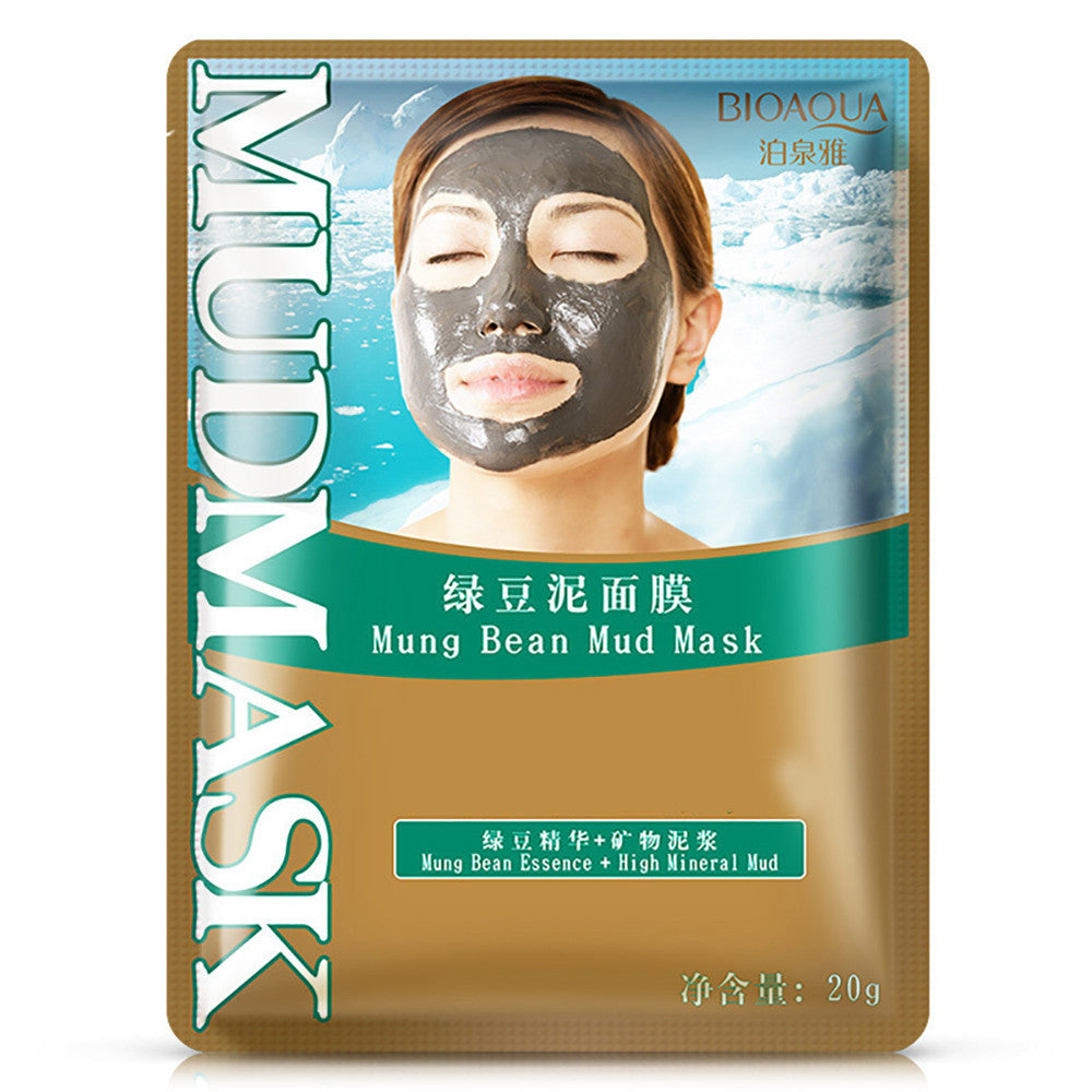 Mung Bean Mud Mask Unisex Skin Care Cosmetic Products Facial Acne Detox