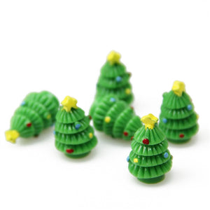 Miniature Micro Resin Tree Ornament For Fairy Garden Moss Micro Landscape Bonsai Decor Craft
