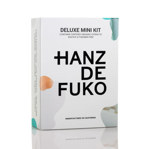 Hanz de Fuko Deluxe Mini Kit: Men's styling wax, pomade, clay, CLAYMATION, QUICKSAND, SPONGE WAX, HEAVYMADE, MODIFY POMADE, GRAVITY PASTE