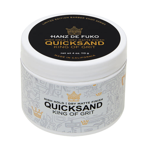 High Hold Ultra Matte Finish Men's Hair Styling Grooming Wax Quicksand Big Jar 4 oz