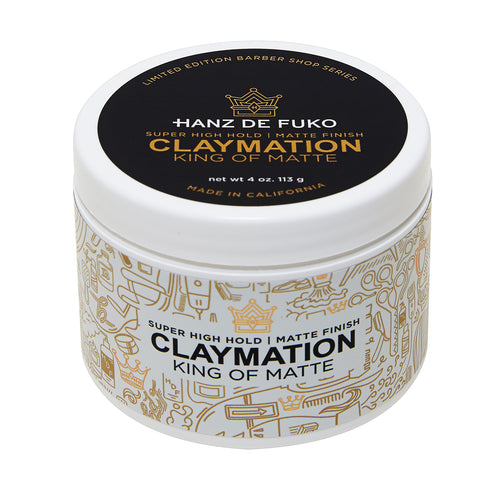 Super High Hold Matte Finish Men's Hair Styling Clay Hanz de Fuko Claymation