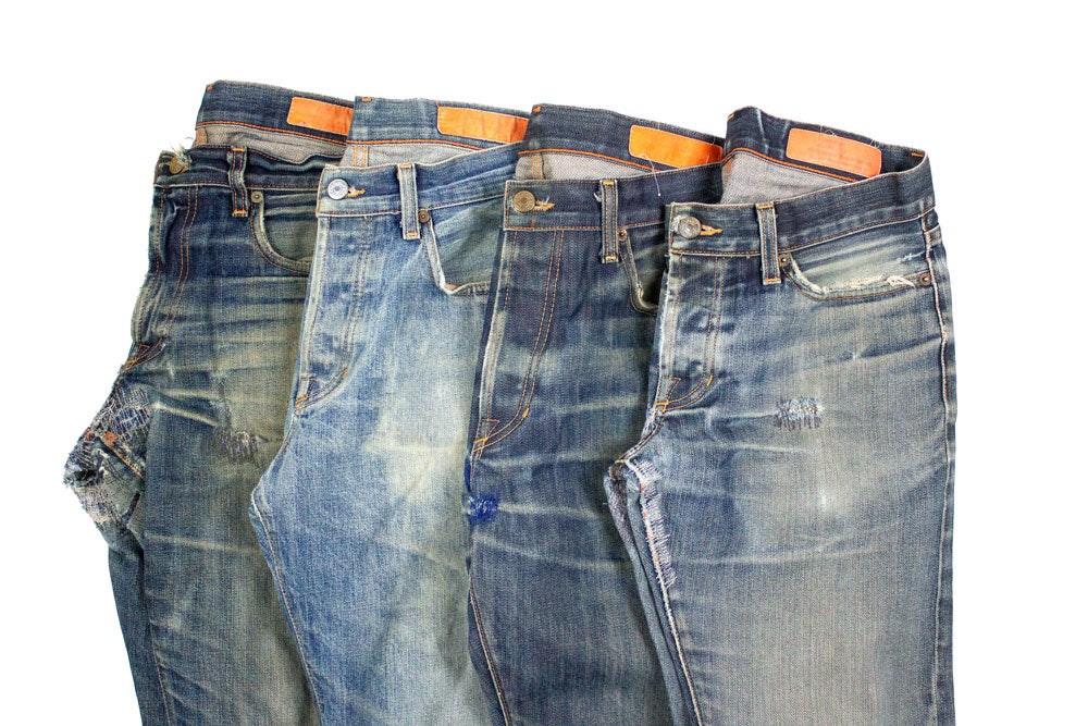 86d56f8d A step towards sustainability. Vintage Jeans--washed, repaired, and ready  for