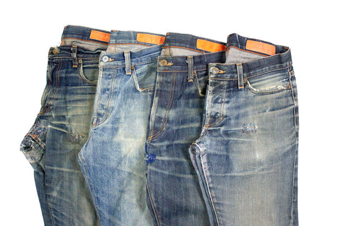 Vintage Denim, washed, repaired, and ready for a new life. A step towards sustainability